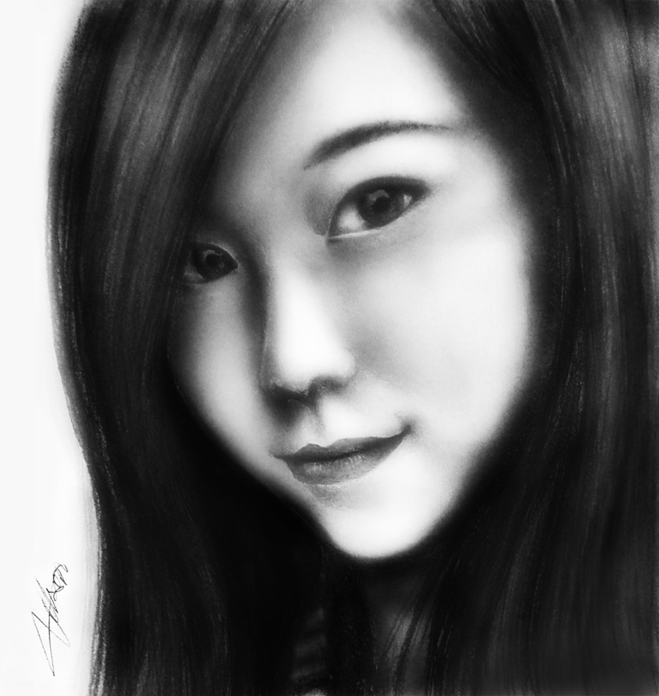 Pencil Portrait - G.E.M. by p997tt
