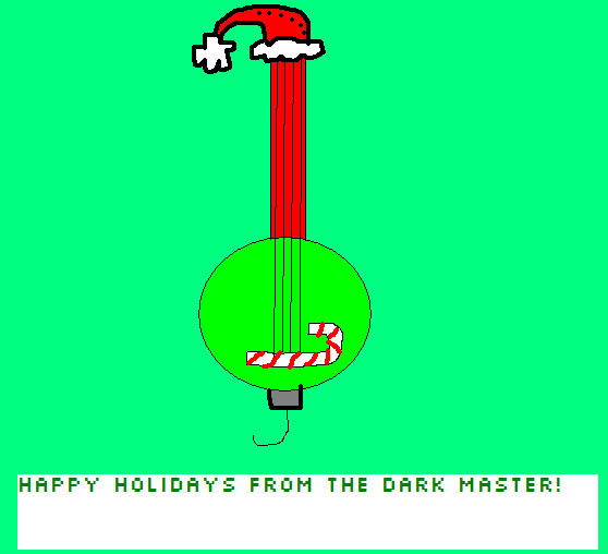 Christmas Bass Guitar by pacman64dx