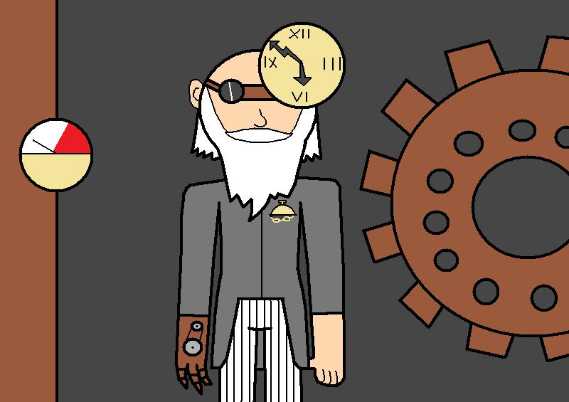 Steampunk Father Time by pacman64dx