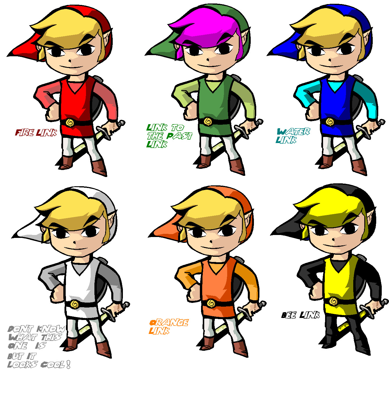 Multiple Wind Waker Links by pacmaster2000