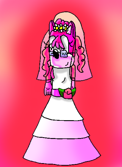 Pinky in a wedding dress! by papiocutie
