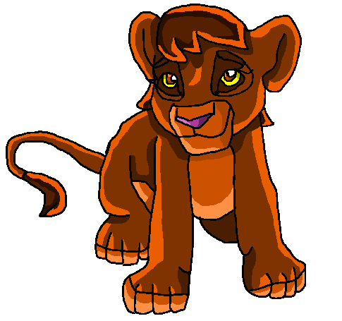Me as a lion cub! by papiocutie