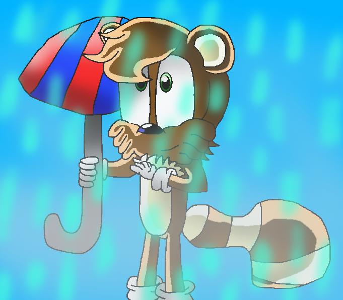 Art trade: Lenny in da rain by papiocutie