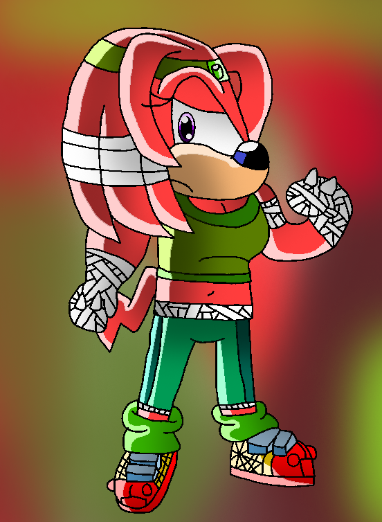 Gender bender: Knuckles The Echidna (Sonic boom) by papiocutie