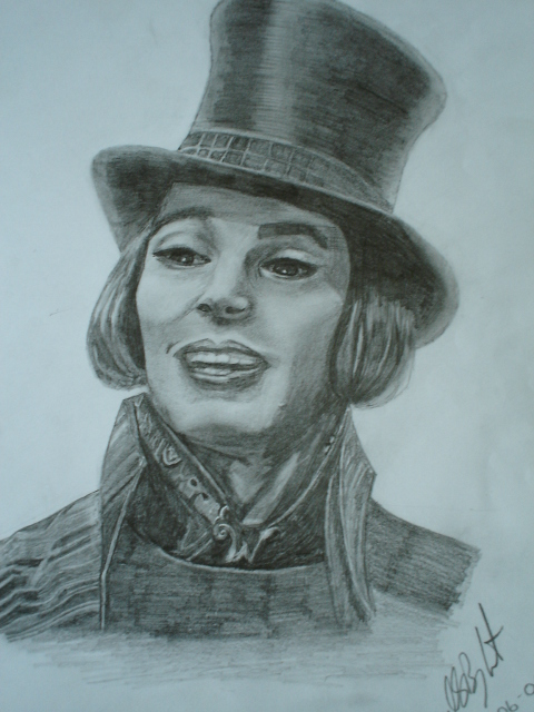 Second Wonka portrait by pebbles