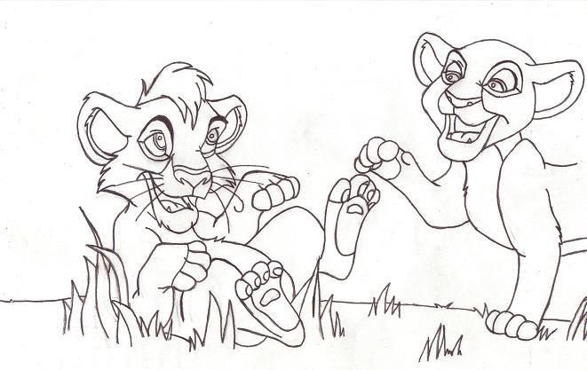 kovu and kiara coloring pages - photo#16