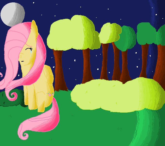 Fluttershy, Fluttershy, Fluttershy can hardly fly! -finished- by pixiewolf05