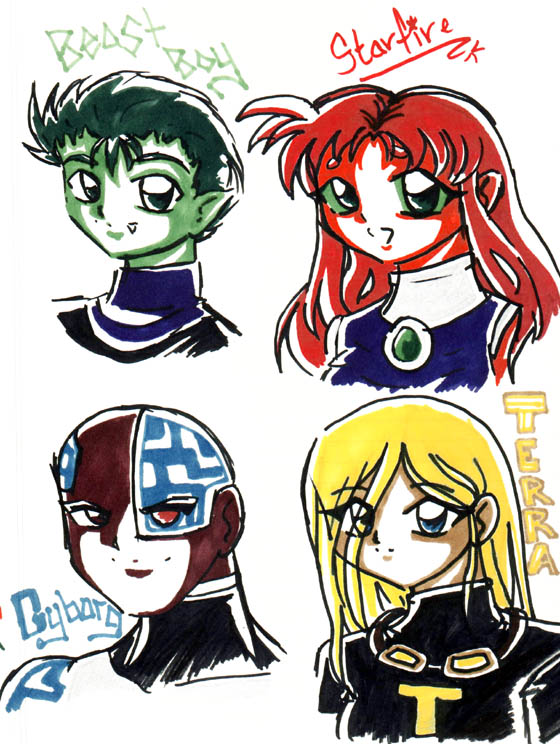 Sharpie Titans by poofywings