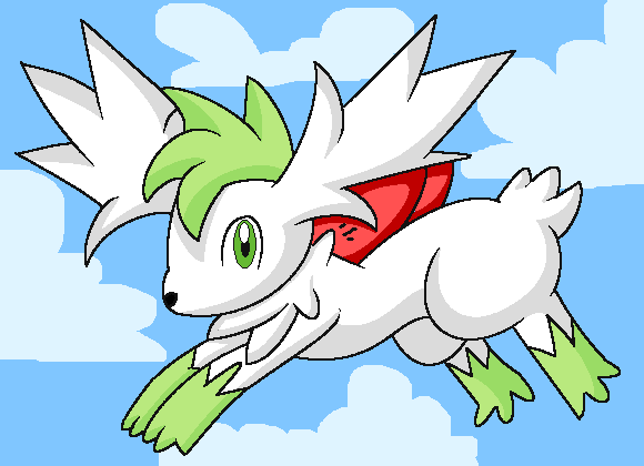 shaymin sky form by princessangel83