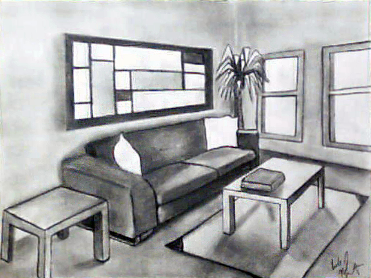living room sketch by psych00z fanart central