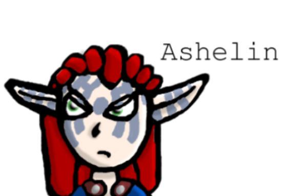 Sort of chibi Ashelin by purpleponygirl