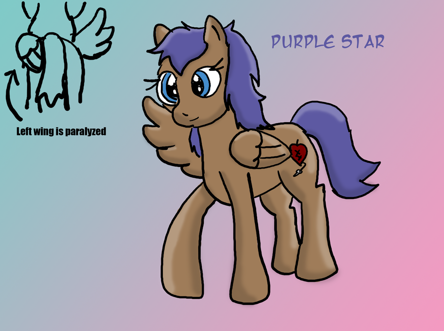 PurpleStar ( My pony Sona) by purpletwist