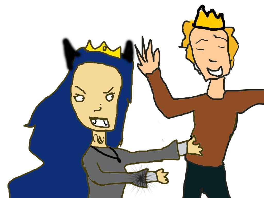 Queen Bones tickling King Artie by QueenBonesofdarkness