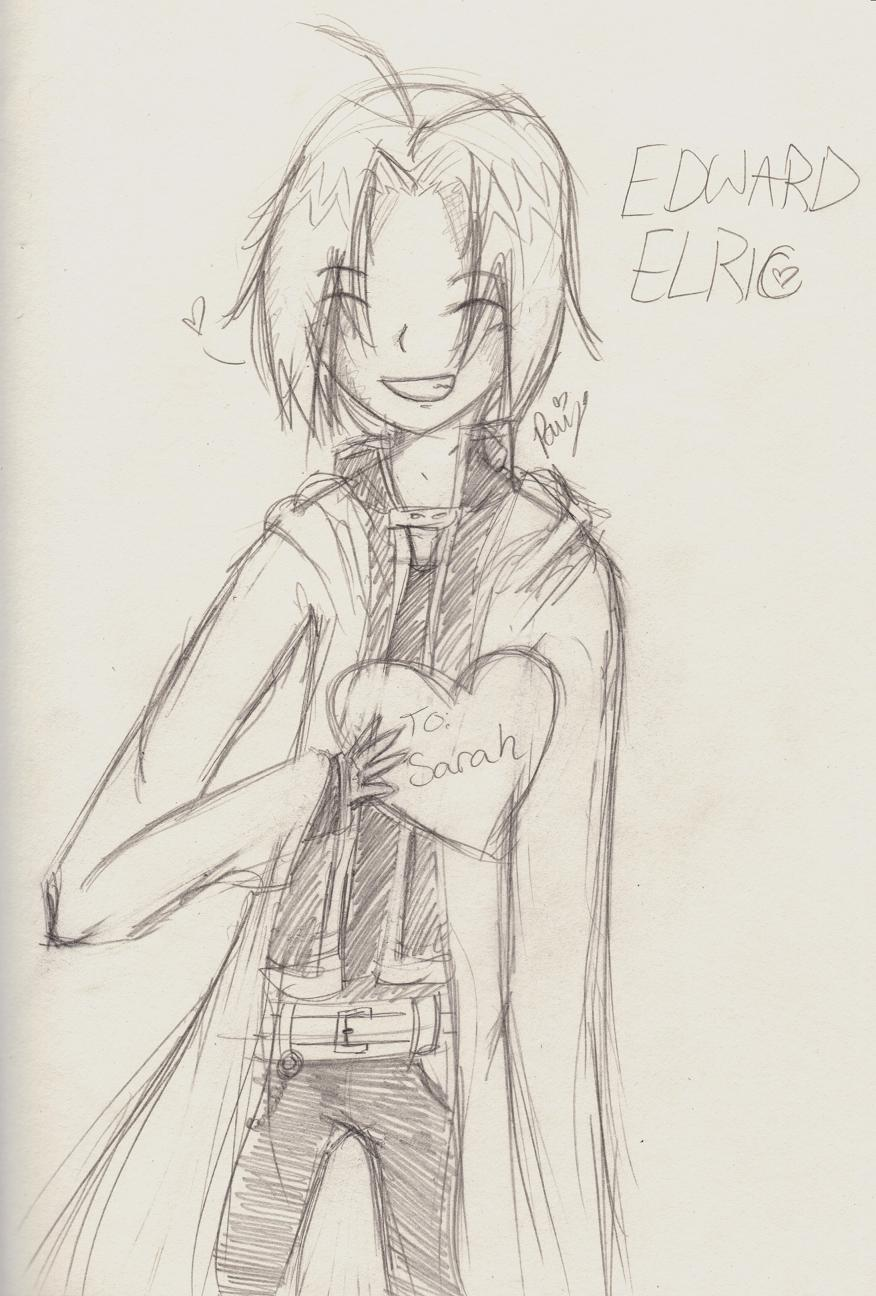 Edward Elric - Random Gift for SweetxinsanityxSarah by QueenPaige