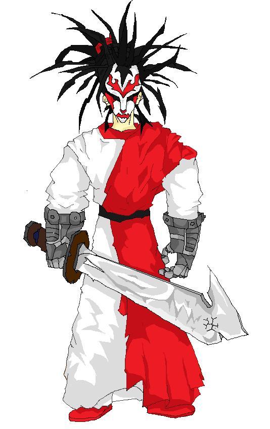 Kabuki warrior mask for Kabuki mask template