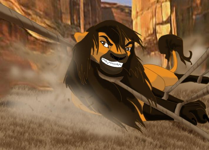 spirit the lion by queensarabi