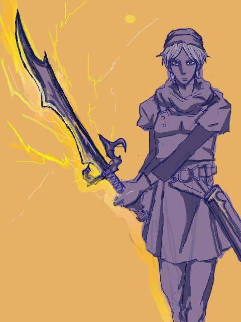 Terry & The Thunder Sword by R-ko