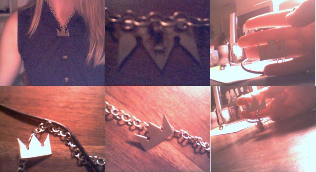 Kingdom Hearts Necklace by Radioactive_froggy