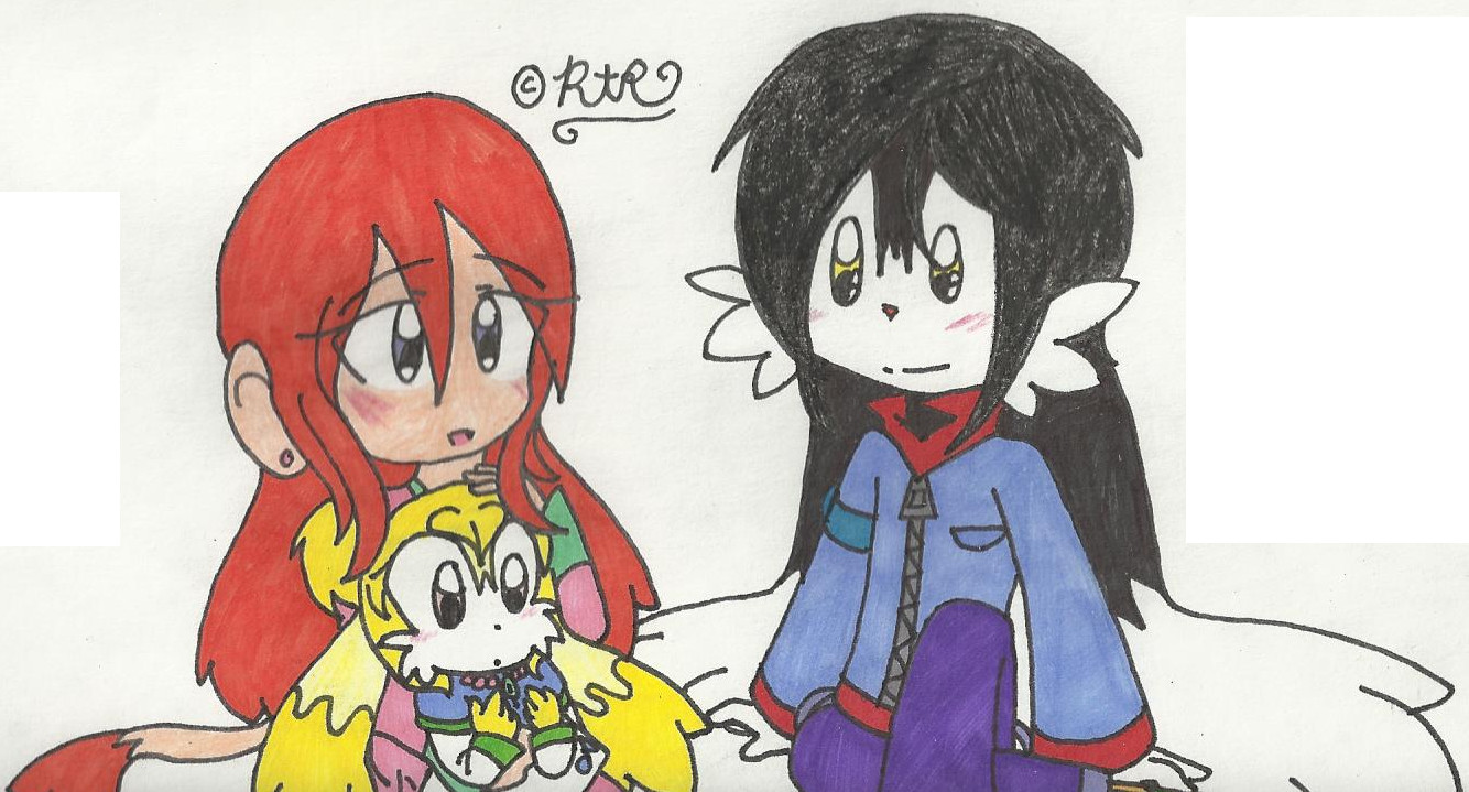Art-Trade with CreamandPoppufan166: Older Klonoa and Older Lolo with Sunny by RaeAshleyRodri