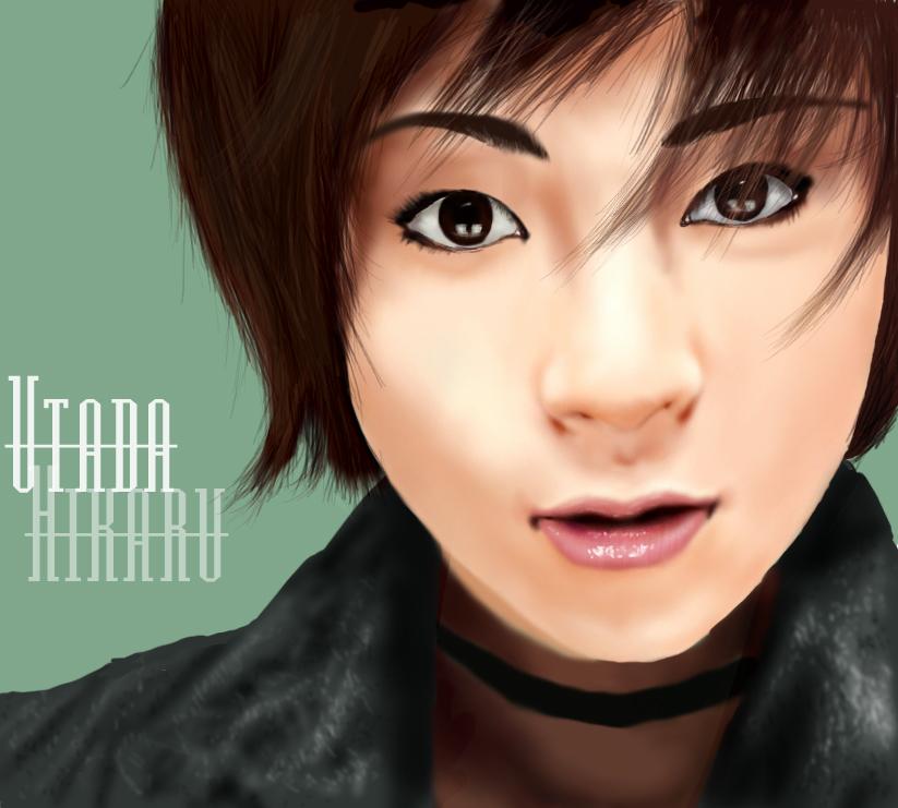 Utada Hikaru portrait by RaeBBfan