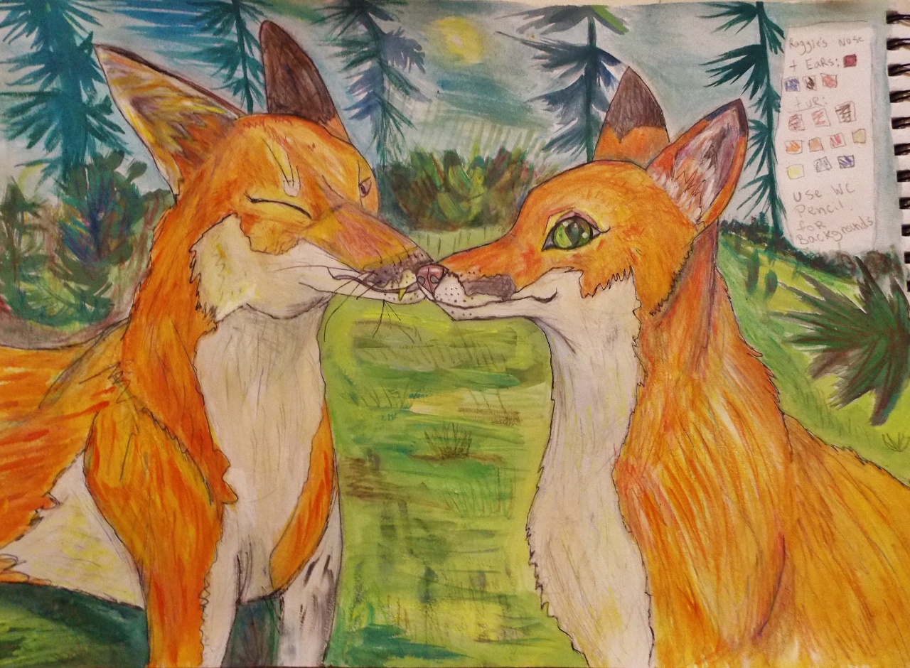 Friendly foxes by RaggleTaggleGypsy