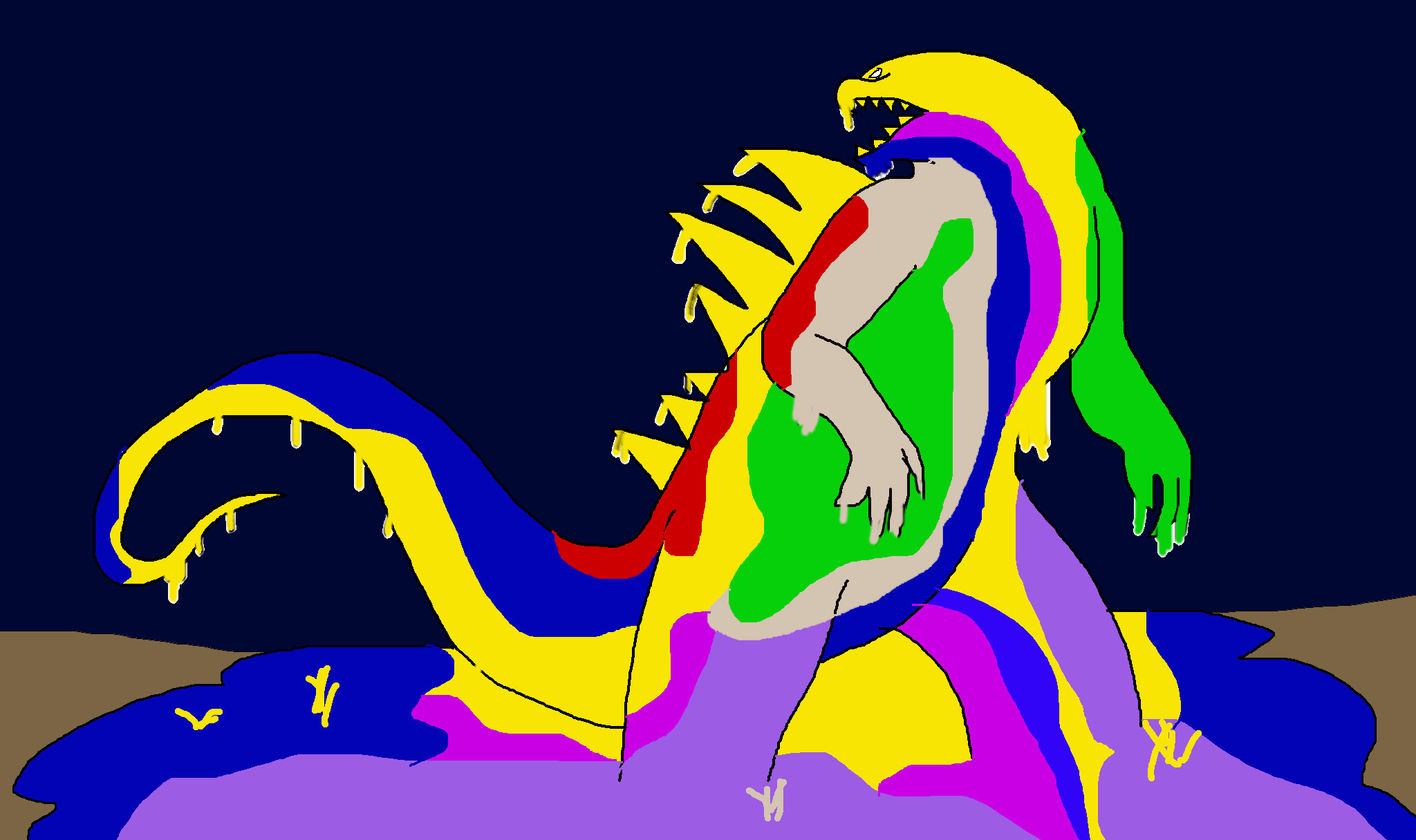 Paint Monster Godzilla by Rainbow-Dash-Rockz