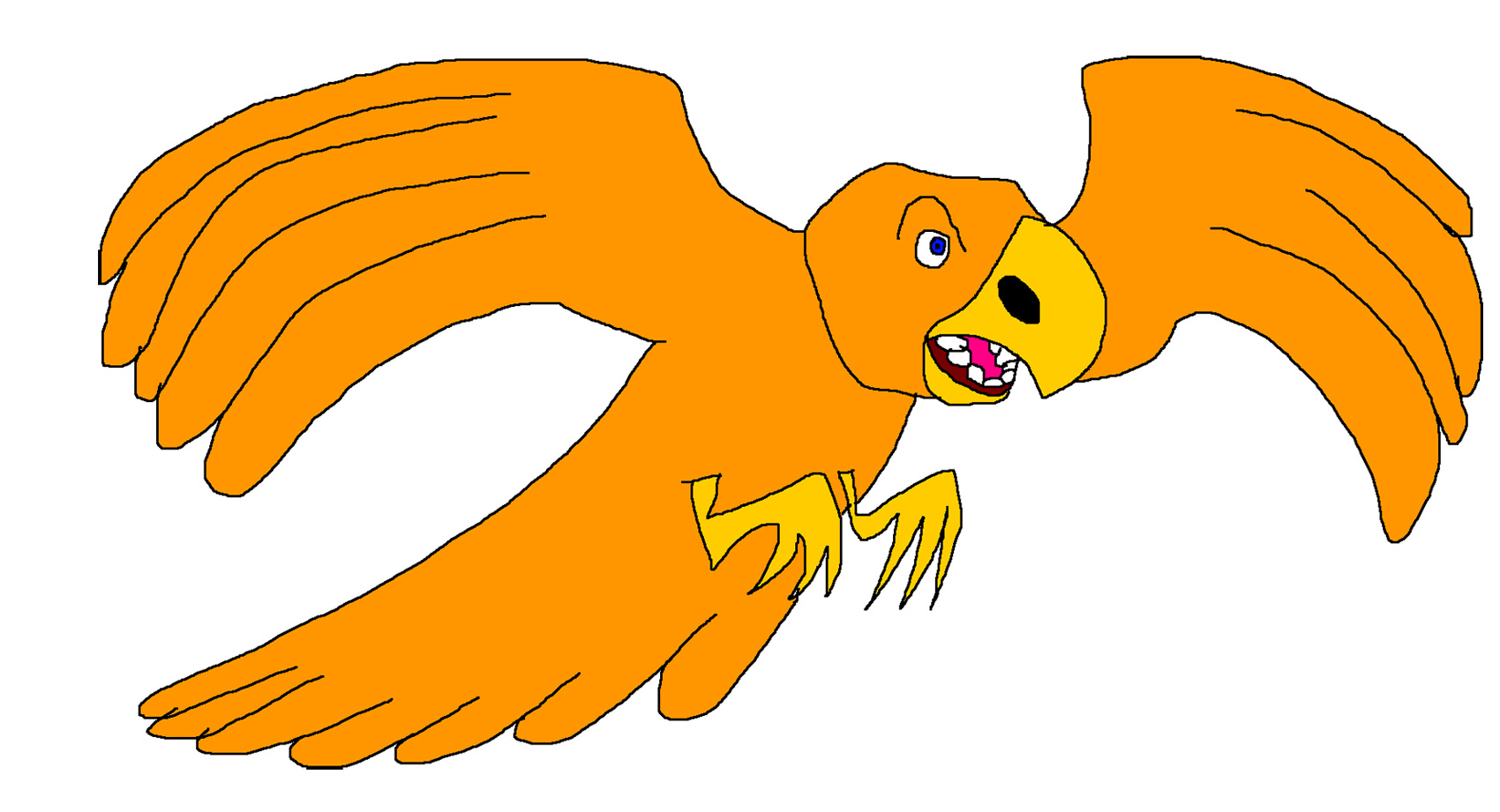 Orange Bird by Rainbow-Dash-Rockz