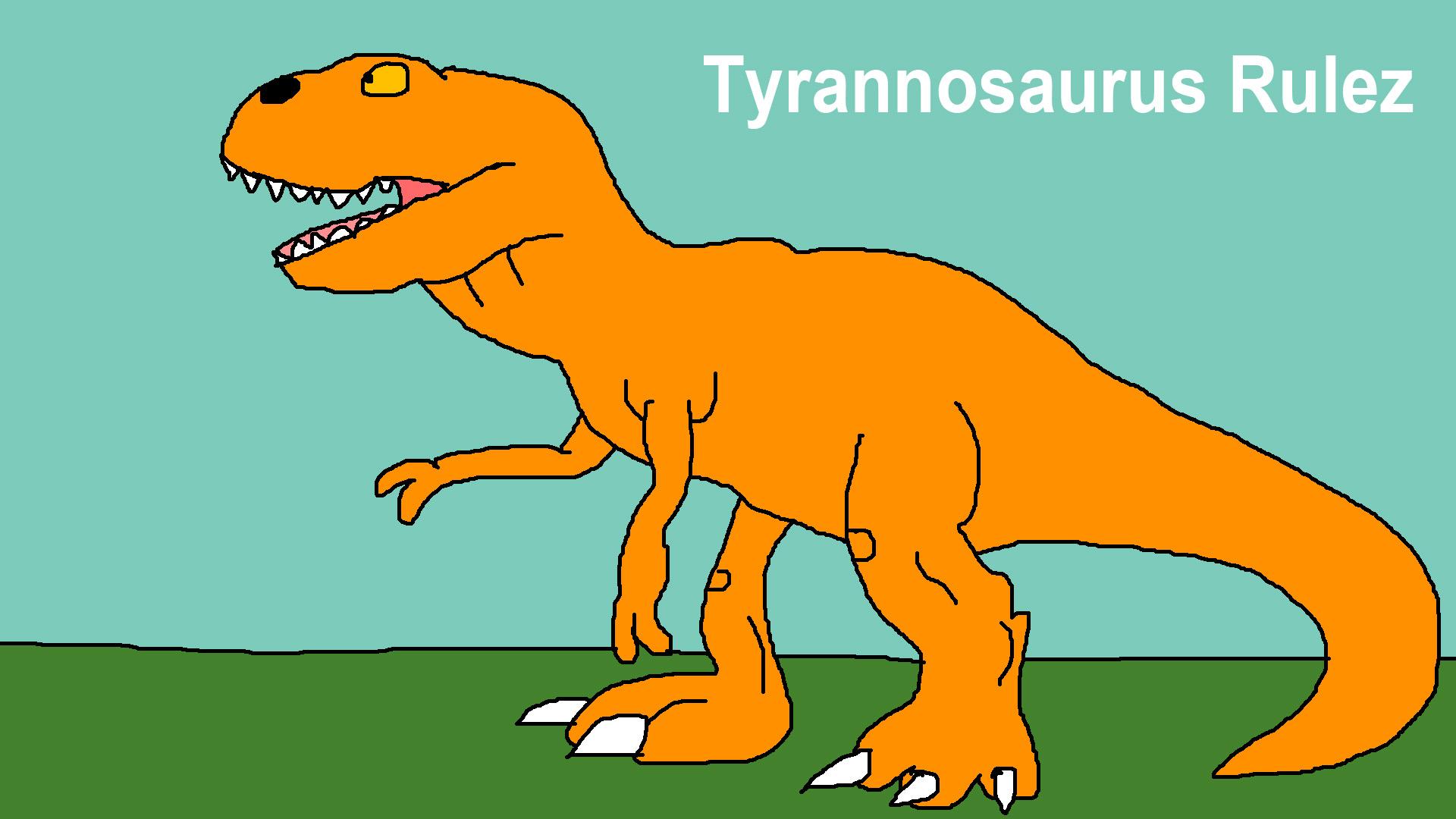 Tyrannosaurus Rulez by Rainbow-Dash-Rockz