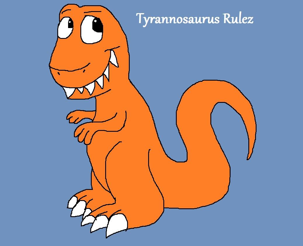 Chibi Tyrannosaurus Rulez by Rainbow-Dash-Rockz