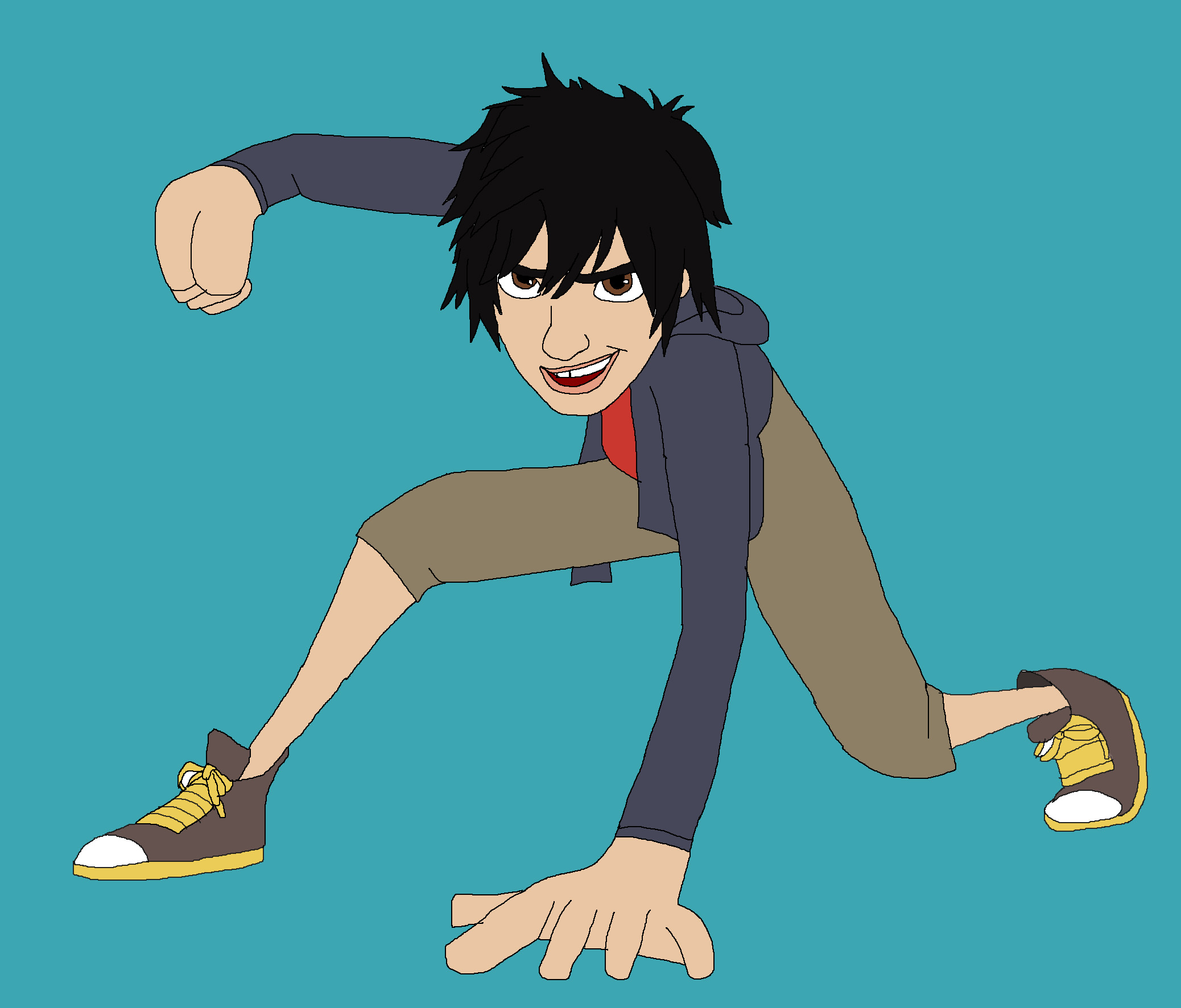 Hiro Hamada without suit by Rainbow-Dash-Rockz