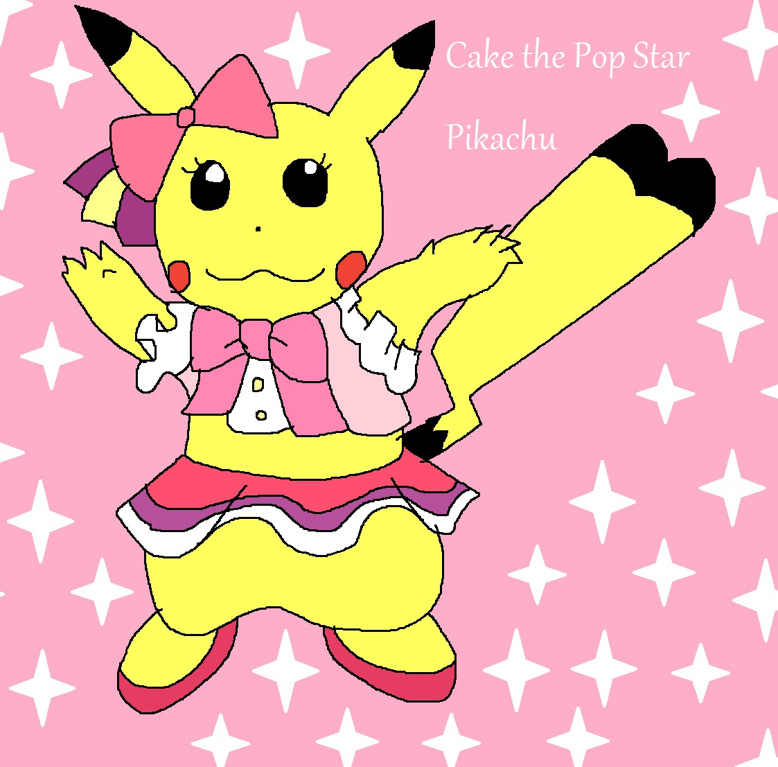 Cake the Pop Star Pikachu by Rainbow-Dash-Rockz