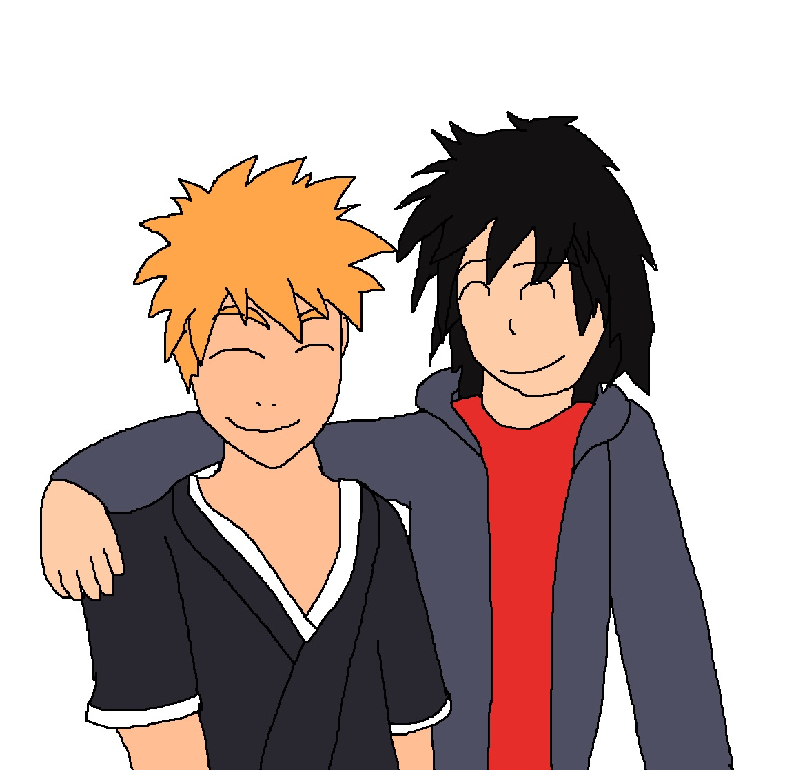 Ichigo and Hiro are brothers forever by Rainbow-Dash-Rockz