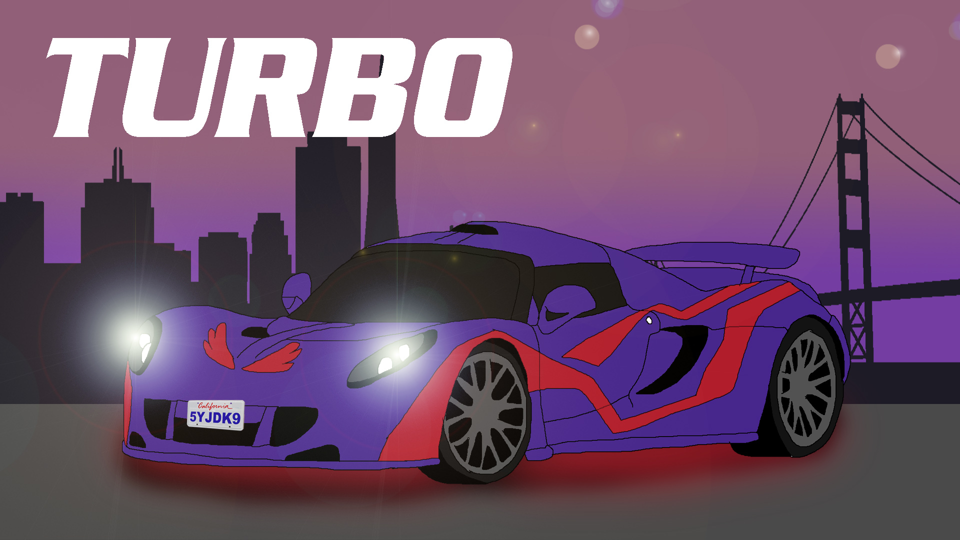 Turbo's New Paintjob by Rainbow-Dash-Rockz