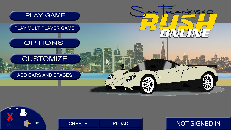 San Francisco Rush Online - Main Menu by Rainbow-Dash-Rockz