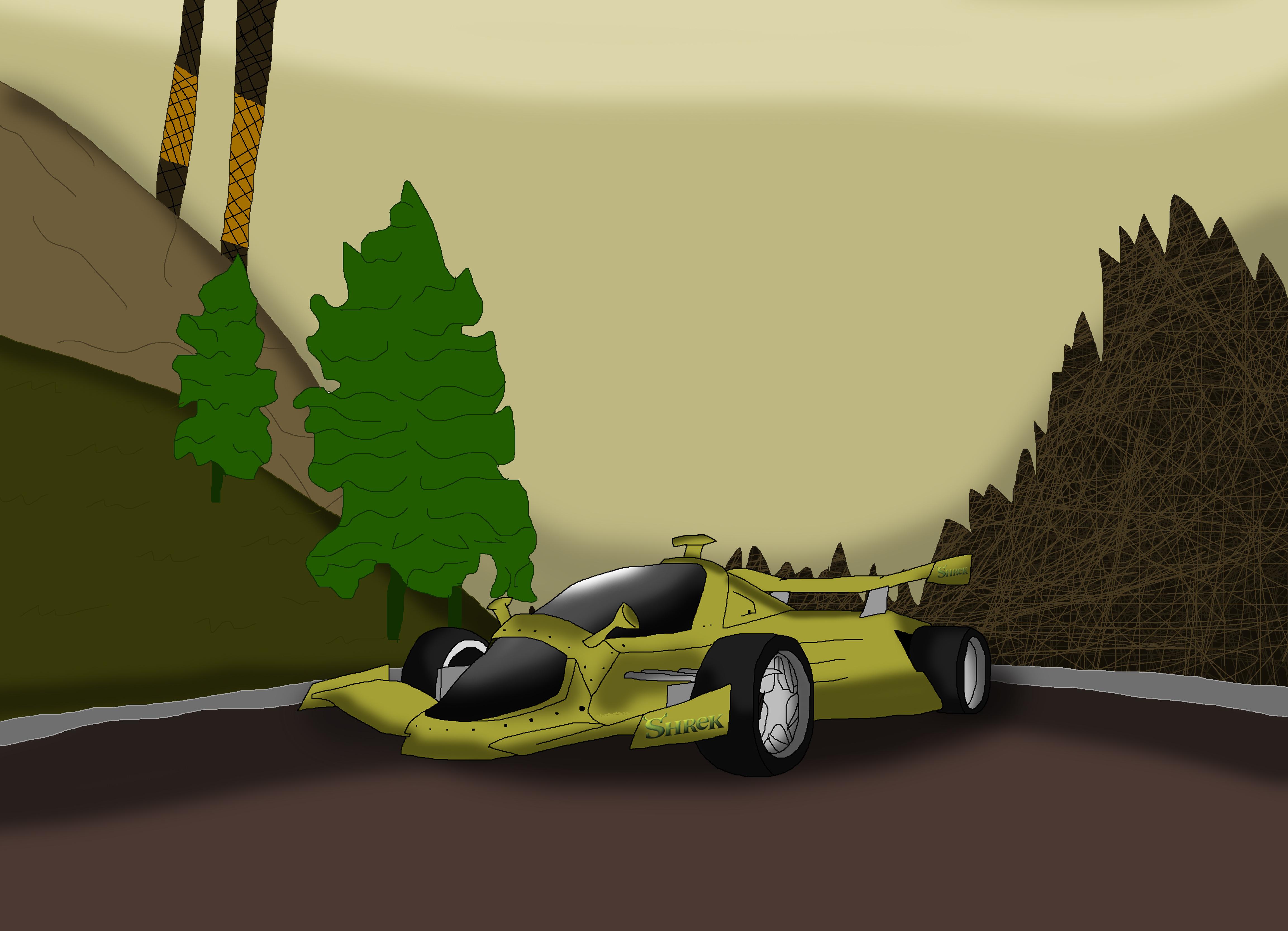 Shrek Car by Rainbow-Dash-Rockz