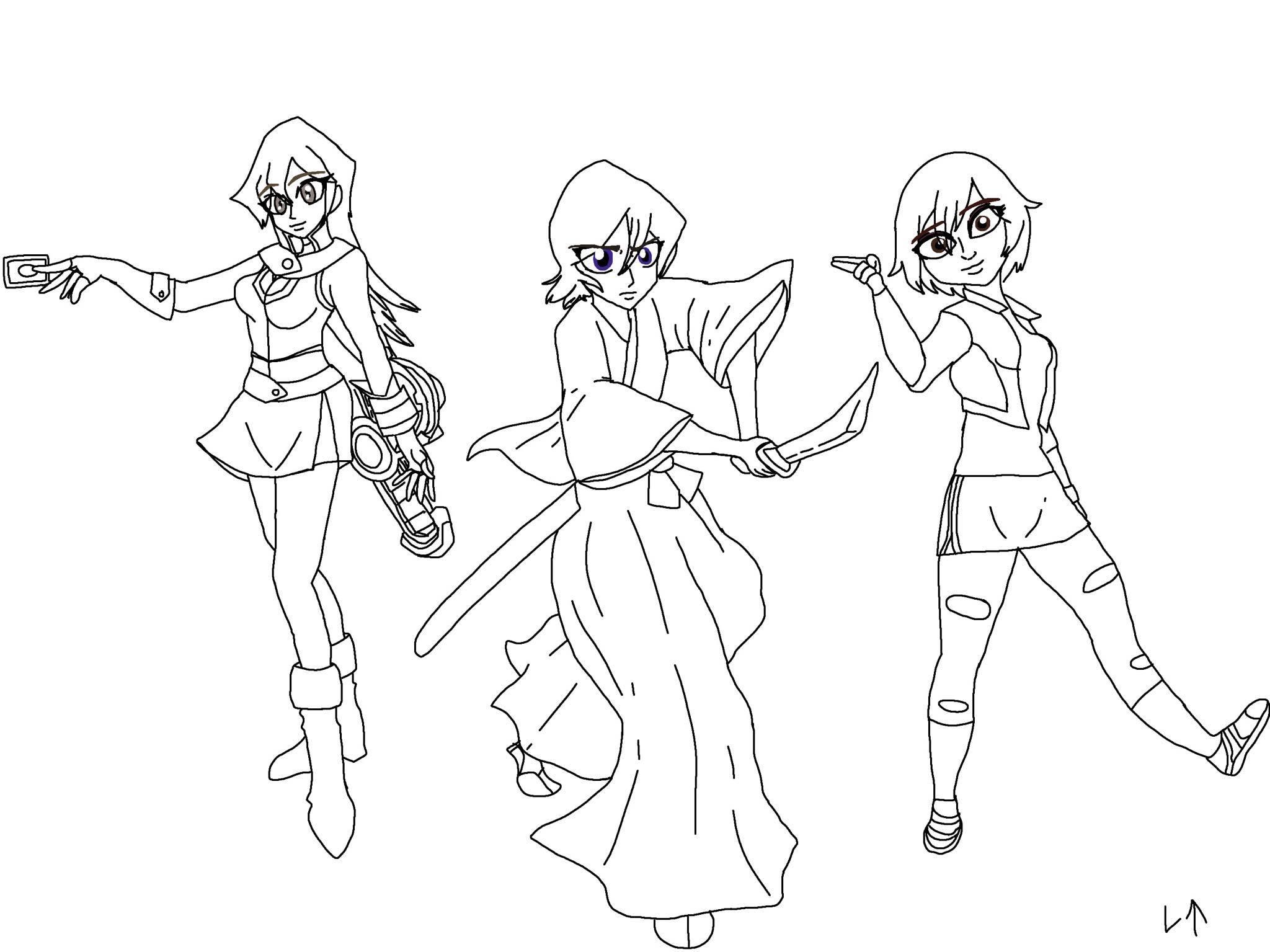 Alexis aka Asuka,Rukia and Gogo by Rainbow-Dash-Rockz