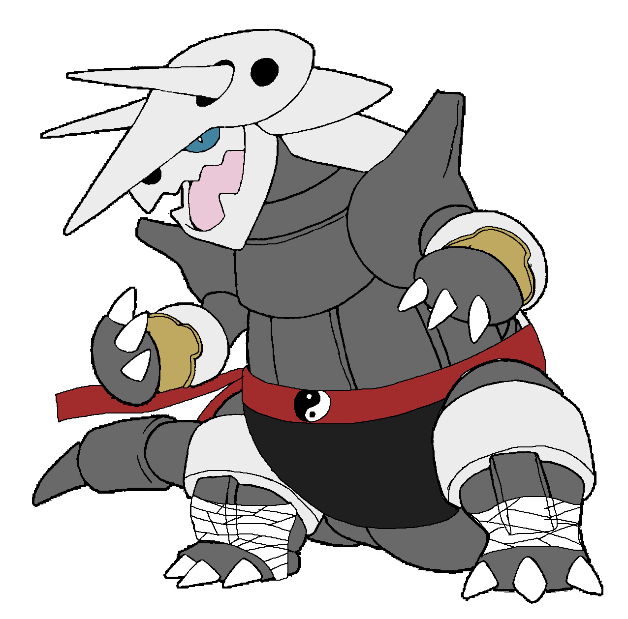 Aggron - Goro by Rainbow-Dash-Rockz