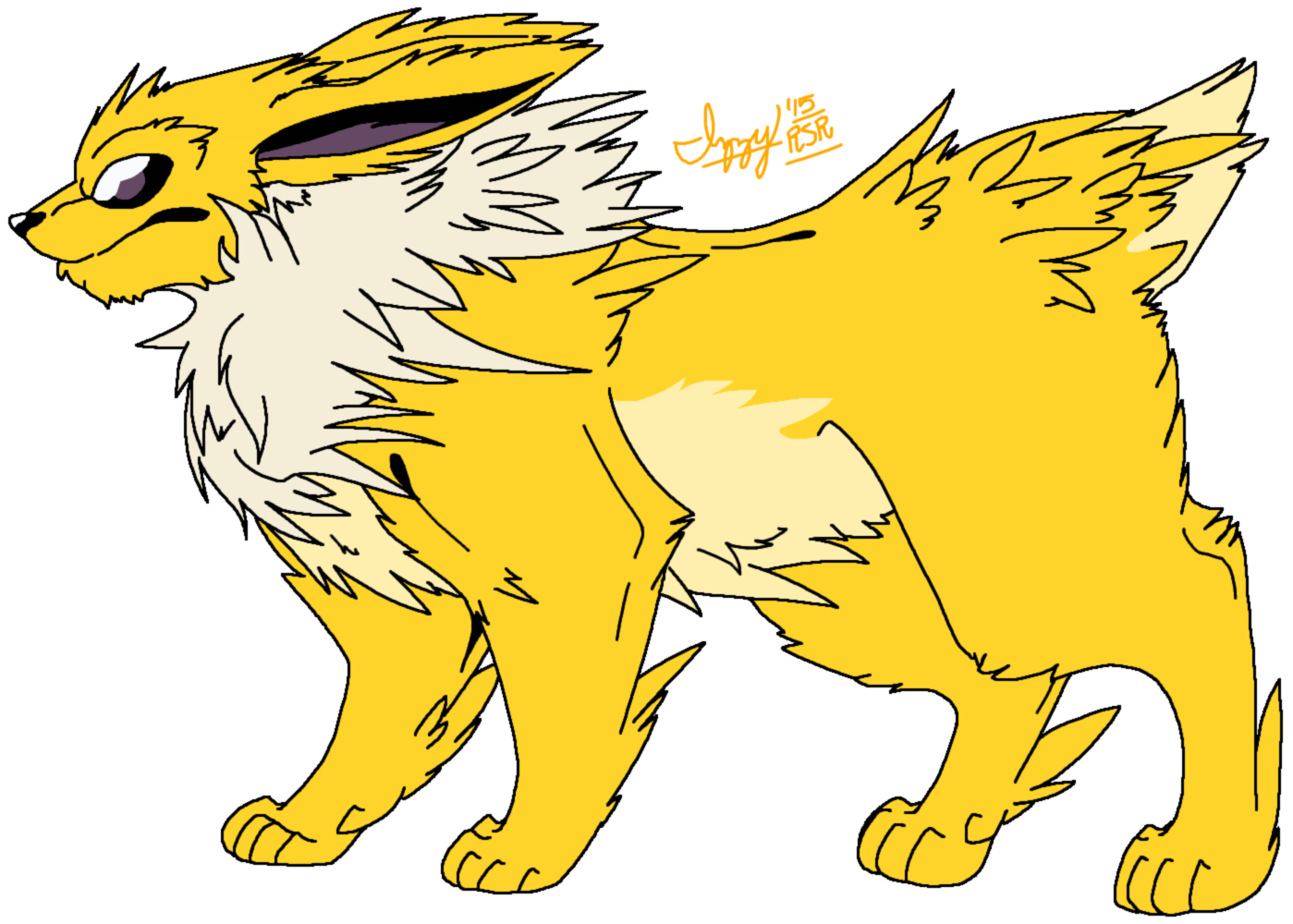 .:Jolteon, the Warrior of Fluff and Thunder!:. by RaineSageRocks