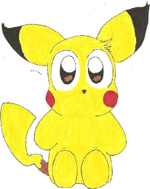 Curious Chibi Pikachu by Ranson