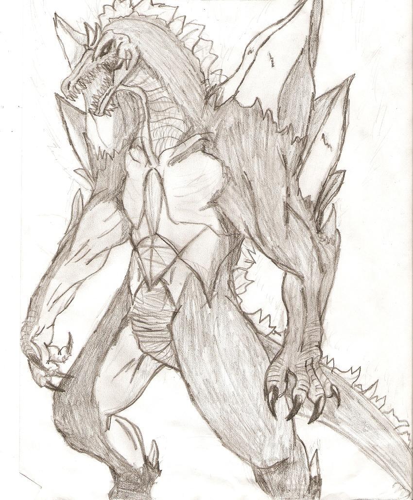 Space Godzilla (my style) by RaptorMaster