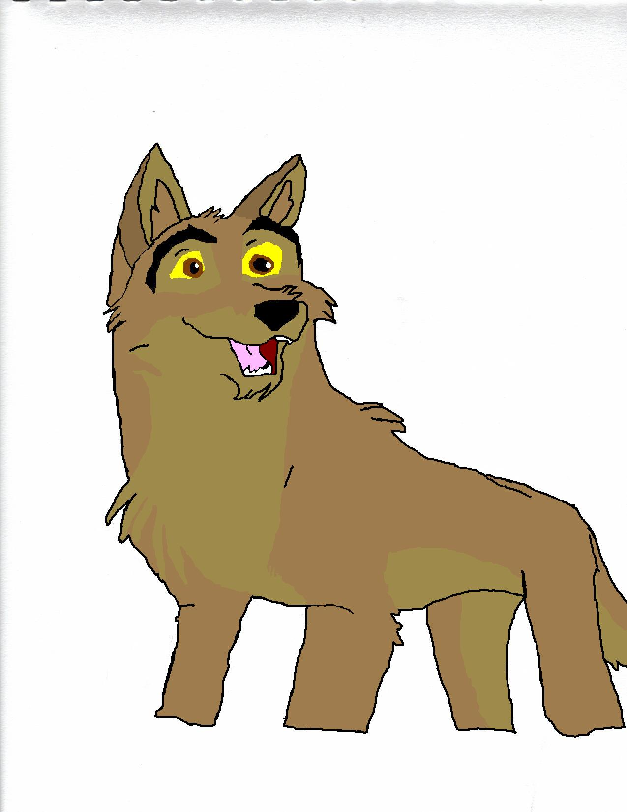 Happy Balto colored by RedSlashwolf