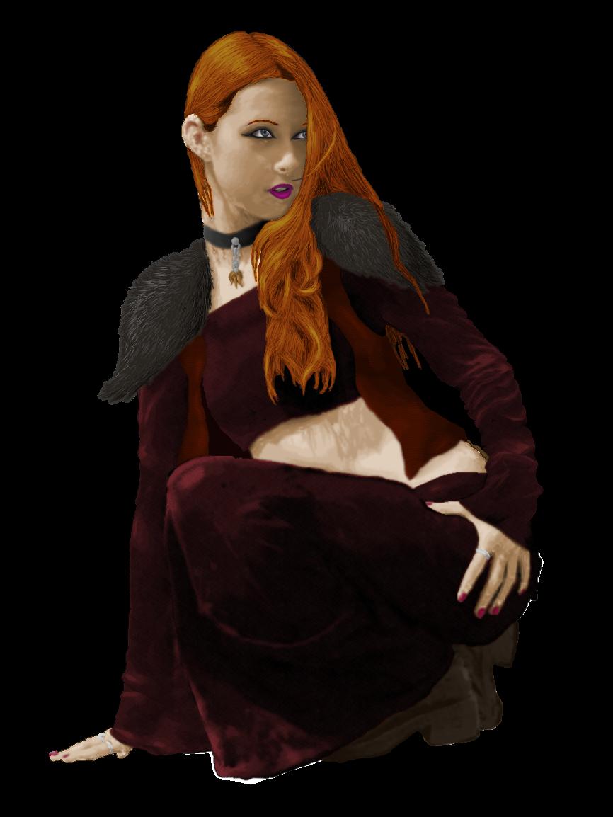 Rhetja - kneeling by Reywynn
