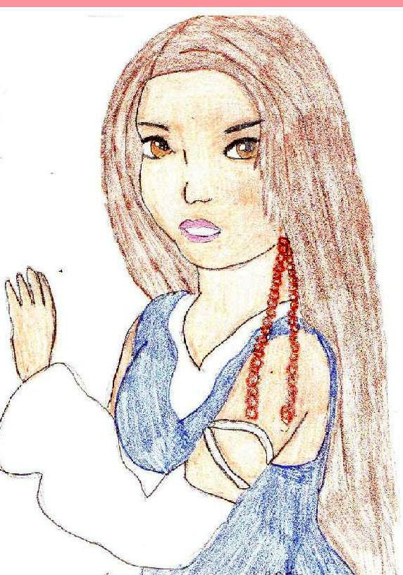 Lenne looking innocent by Rikku_Leonheart