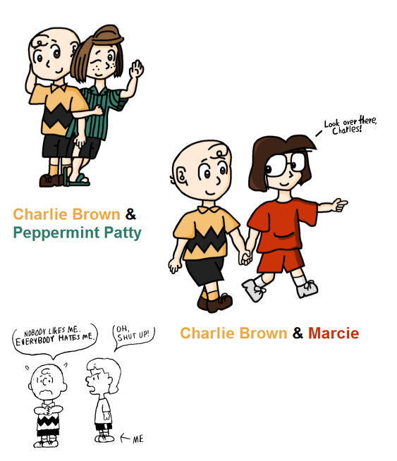 Charlie Brown and the Girls by RisanF