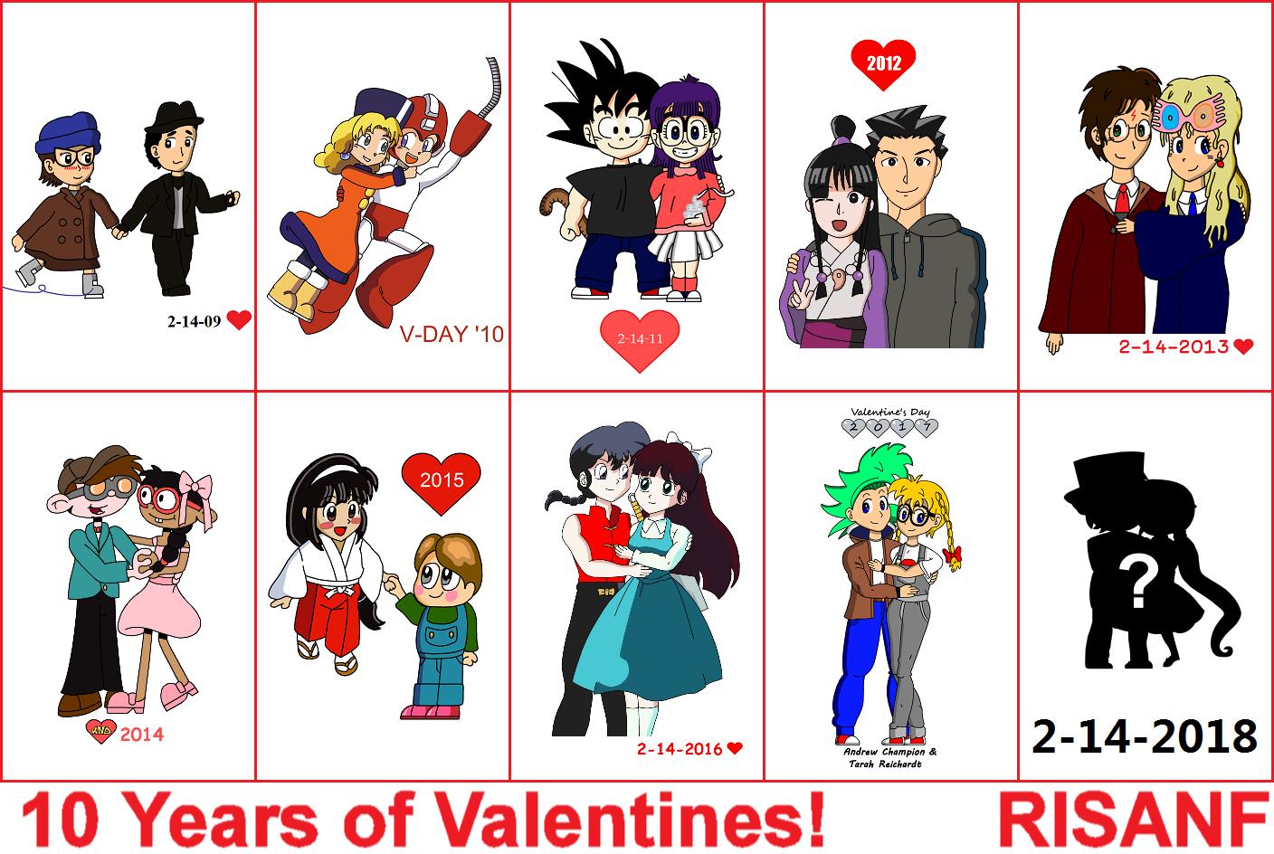 10 Years of Valentines! by RisanF