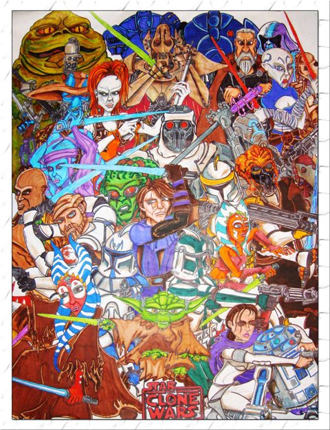 Star Wars: The Clone Wars by RobLundhild
