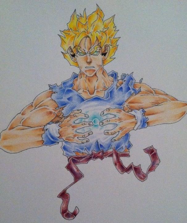 Goku charging his Ki by Rodimus84