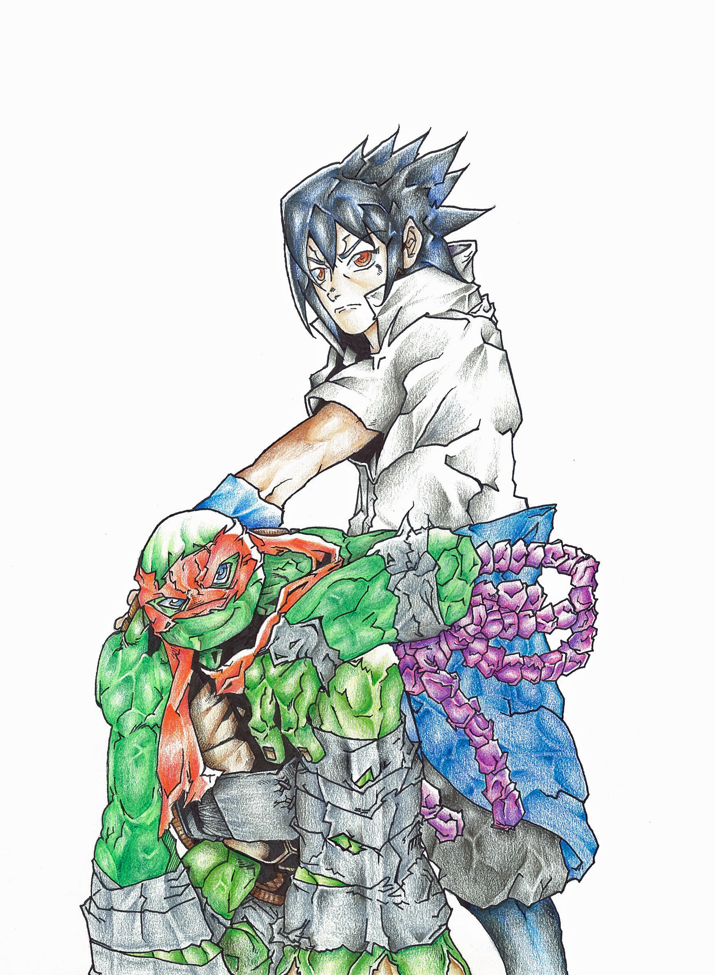 Sasuke summons the party dude by Rodimus84