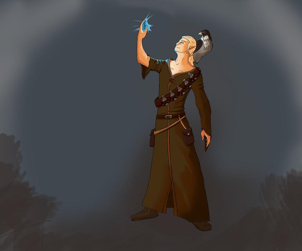 Elven Alchemist by Rorean