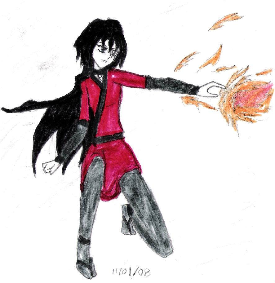 Sasha the Fire Bender by RoseQueen